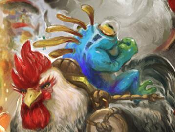 魔兽春节玩家作品赏:启航的鸡和鱼绘制全记录