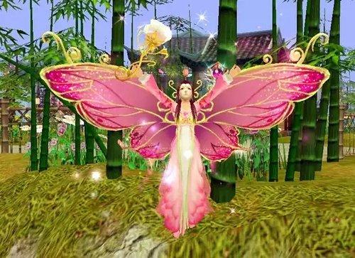 女神活動時裝和坐騎綺夢蝶游戲效果截圖